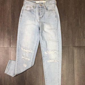 Brandy Melville button fly Mom jeans size 23